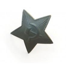 Звезда на фуражку/шапку зеленая 32 мм