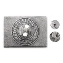 Пряжка Вермахт алюминиевая