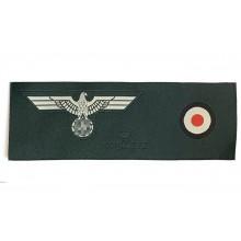 Нашивка комплект орёл + кокарда на пилотку Вермахта 1937