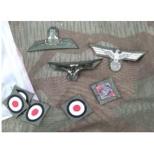 Орёл + кокарда на пилотку Вермахта 1940 подготовленная