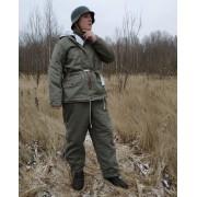 Зимняя куртка парка серо-зелёная фельдграу СС 1942-45
