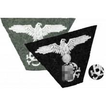 Нашивка с орлом и черепом (трапеция) на кепку СС уценка