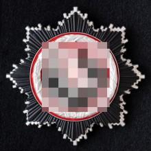"""Немецкий крест """"яичница"""" в серебре"""