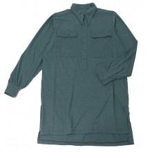 Рубашка зелёная с прямыми карманами