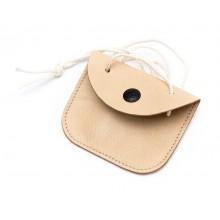 Чехол кошелёк кожаный с кнопкой для жетона