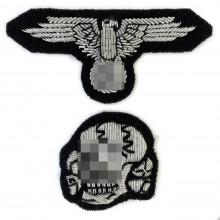 Комплект на фуражку офицера СС вышивка