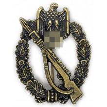 Пехотный штурмовой знак в бронзе