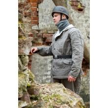 Куртка зимняя Люфтваффе серая стёжка прямоугольник
