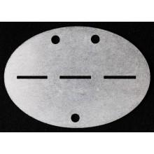 Жетон-болванка оцинкованая сталь ВМВ