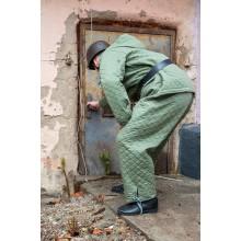 Зимний костюм Люфтваффе зелёный стёжка ромбик куртка+штаны