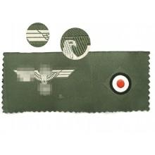 Нашивка комплект орёл + кокарда на пилотку Вермахта 1940