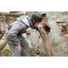 Зимний костюм Люфтваффе серый стёжка прямоугольник куртка+штаны