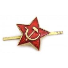 Звезда на пилотку СССР 24 мм красная